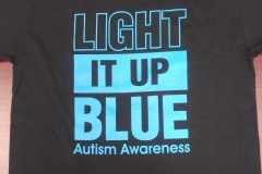 Black Light it Up Blue shirt